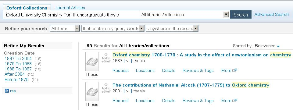 Oxford thesis catalogue