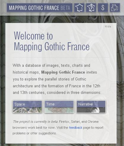 Mapping Gothic France homepage