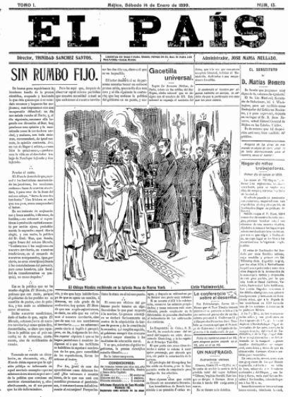 El Pais (Mexico City) titlepage: 14 Jan 1899