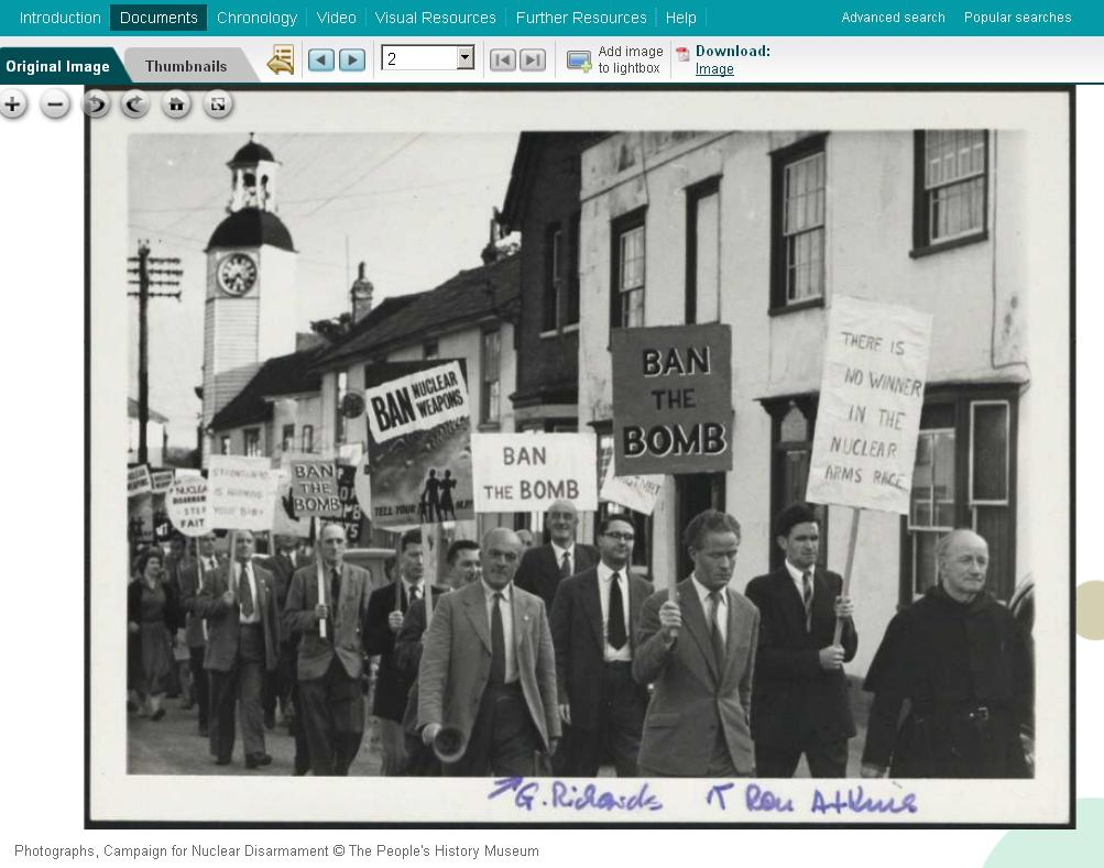 An example image from the database - Campaign for Nuclear Disarmament © The People's History Museum