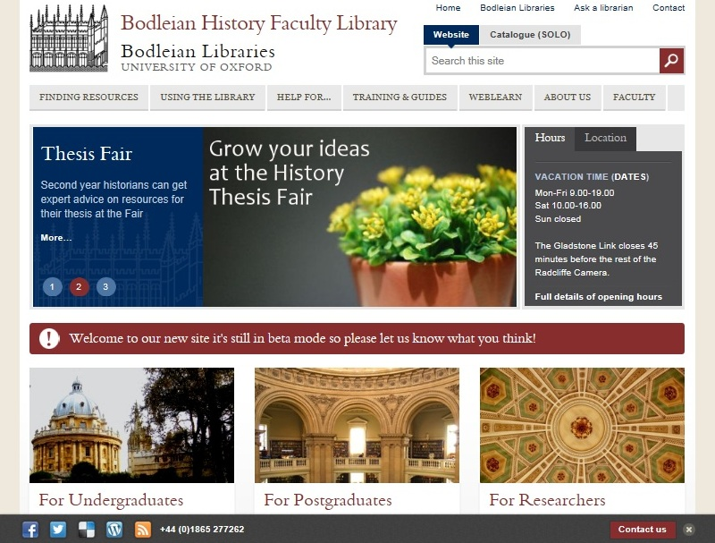 The new homepage
