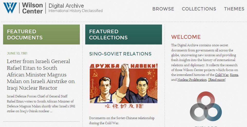 Wilson Centre homepage