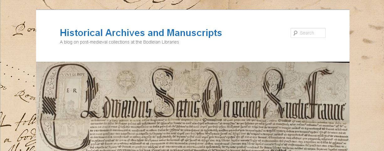 Blog - Historical Archives & MSS BOD