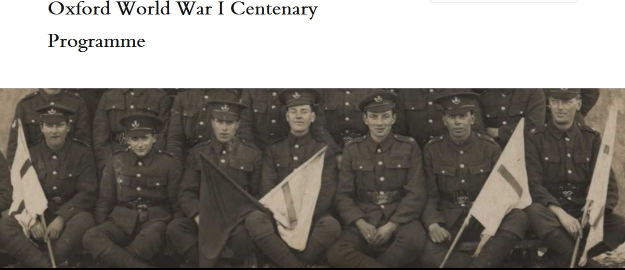 WWI Centenary blog logo