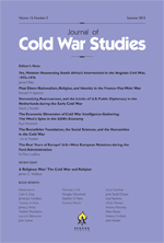 Journal of Cold War Studies cover