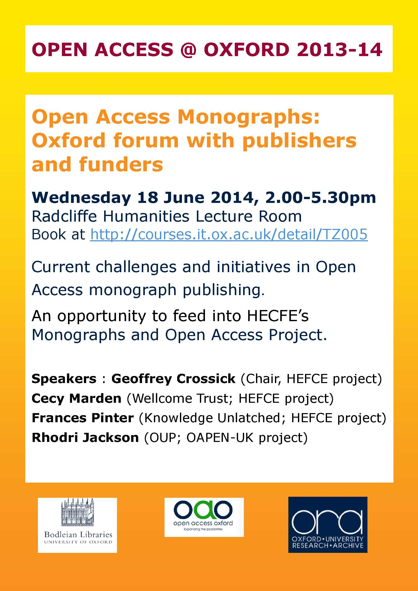 OA monographs A4 Jun 2014