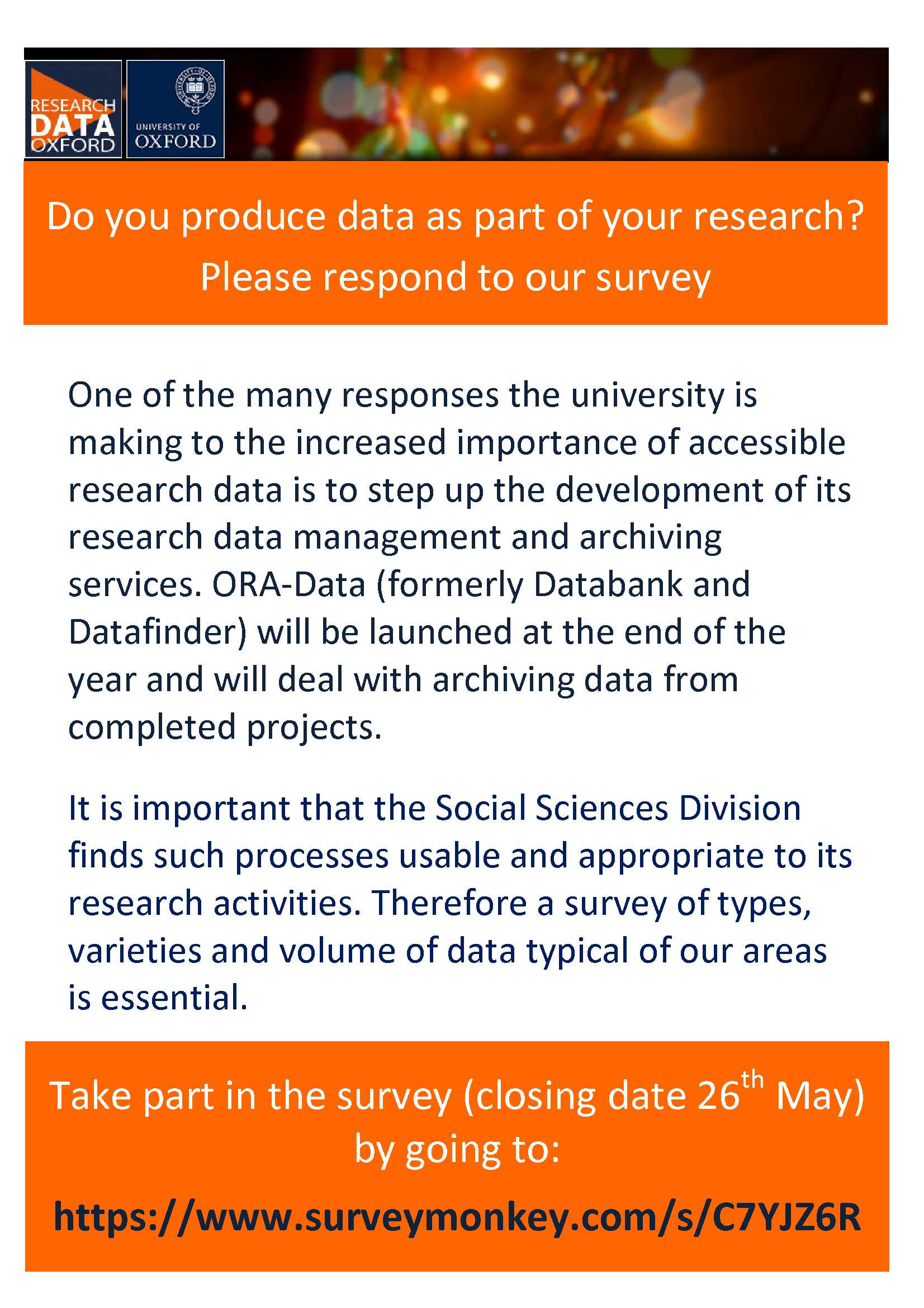 Research Data Management Survey Poster