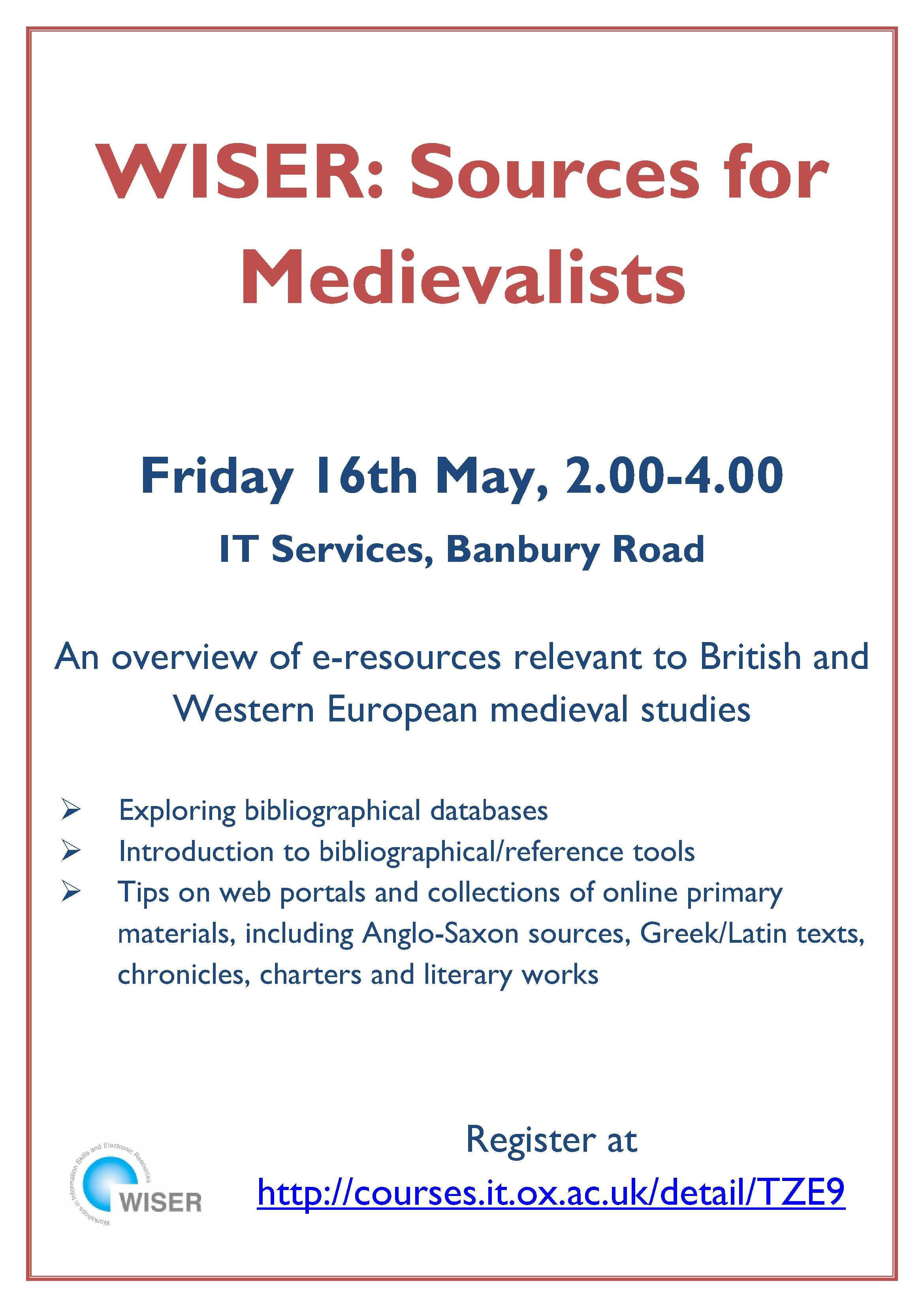 WISER Medievalist Poster