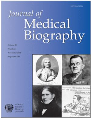 Journal of medical biography - cover