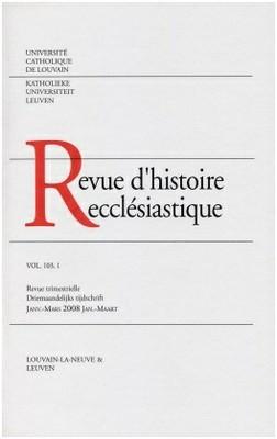 Review d'histoire ecclesiastique - cover