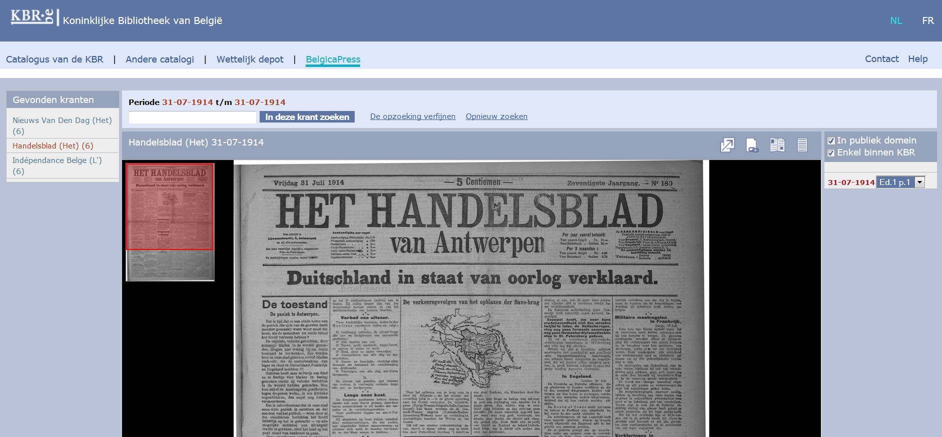 BelgicaPress - screenshot - sample newspaper