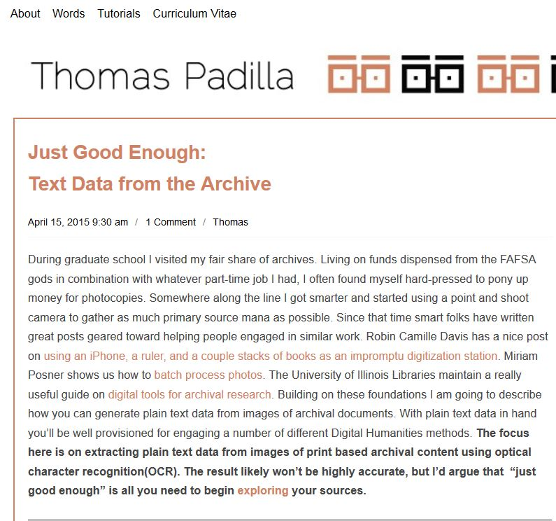 Padilla - from image to text