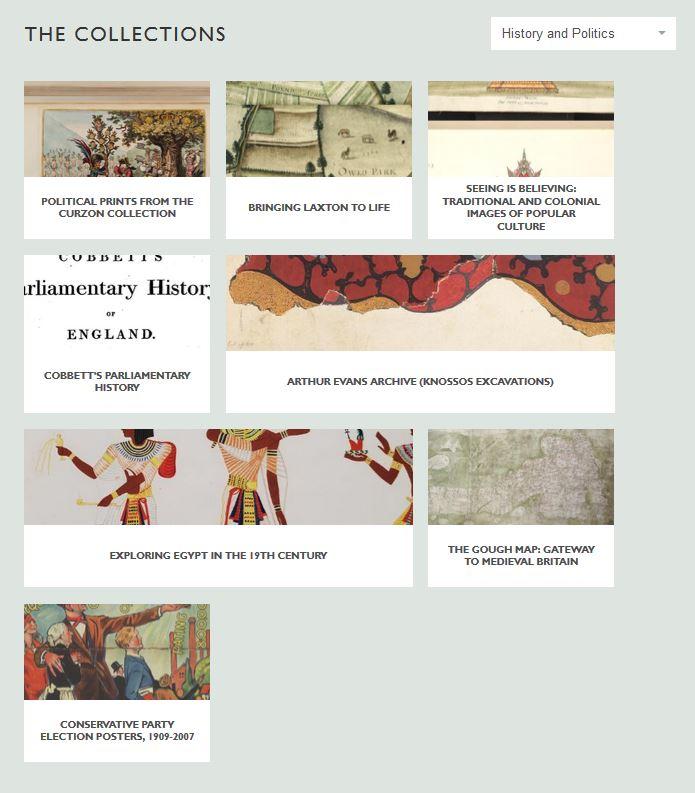 digital dot bodleian - history and politics collections screenshot