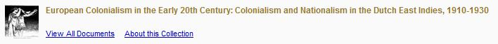 European Colonialism in the early 20th century - Dutch East Indies
