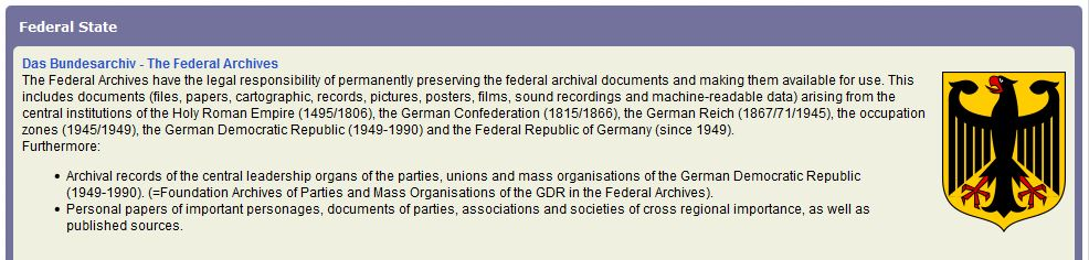 LibGuide - German Archives - Bundesarchiv