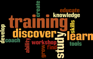 Training word cloud