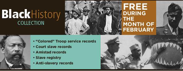 Fold3 Black History Month banner
