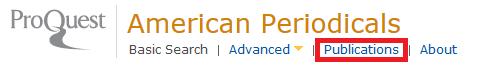 American Periodicals