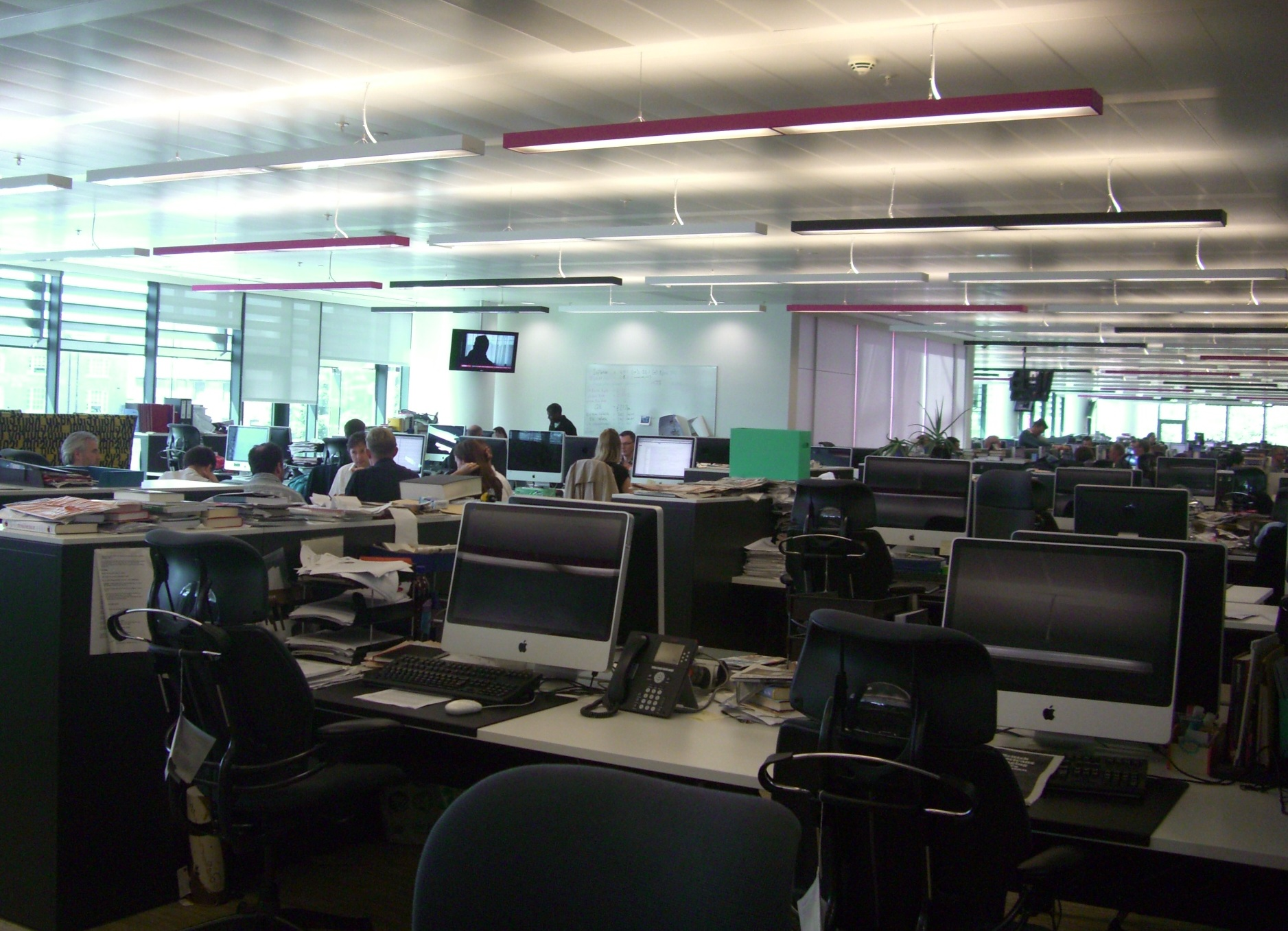 Inside the Guardian newspaper offices