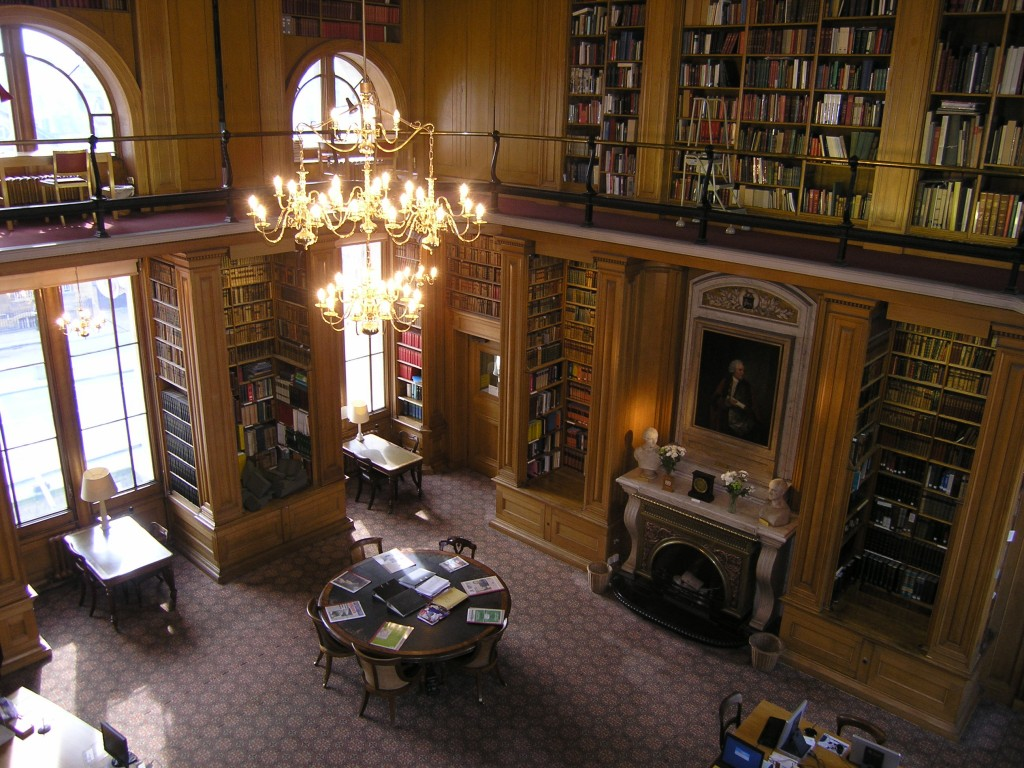 The Main Reading Room, favored (Image courtesy of Taylor Institution Library)