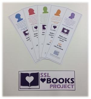 Our new 'SSL <3 Books Project' bookmark!