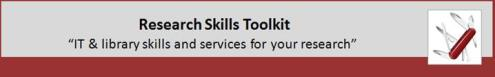 Research Toolkit banner