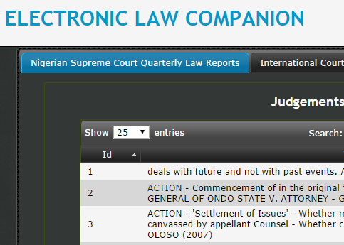 Electronic Law Companion