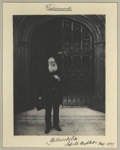 NPG x32566; Anthony John Mundella by Sir (John) Benjamin Stone May 1897