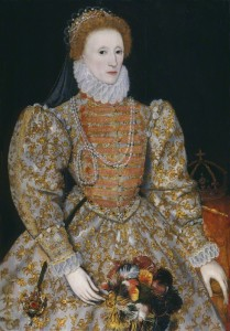 Queen Elizabeth I by unknown artist, oil on panel, circa 1575