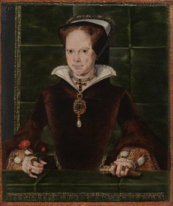 Queen Mary I by Hans Eworth, oil on panel, 1554