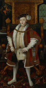 King Edward VI by unknown artist, after William Scrots, oil on panel, circa 1547