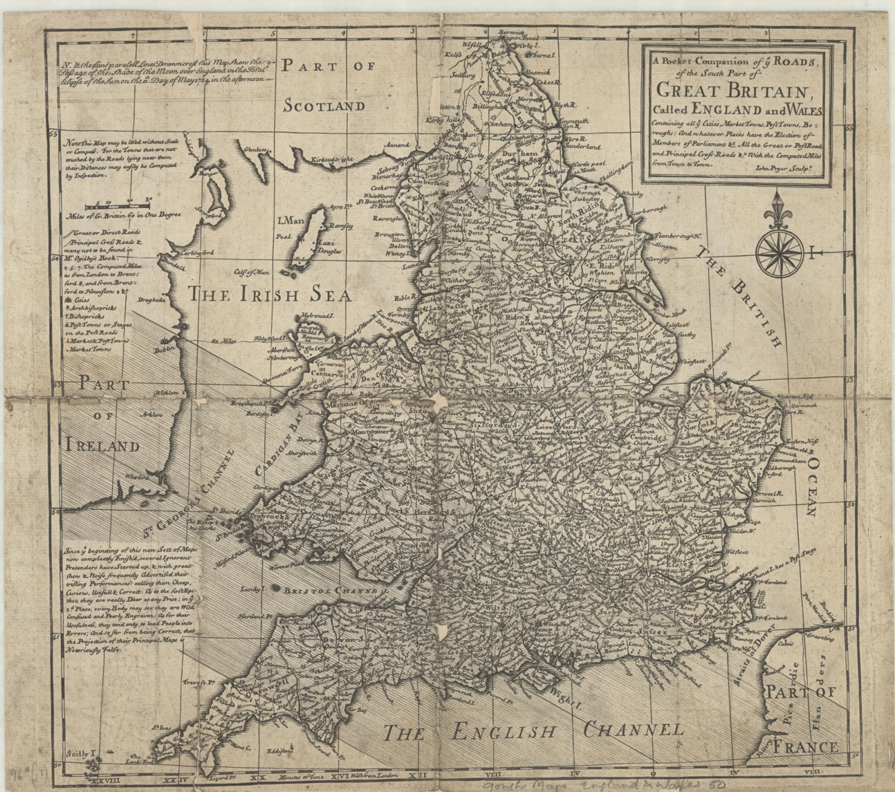 Road Map Of England And Wales With Towns.Notoriously False Bodleian Map Room Blog