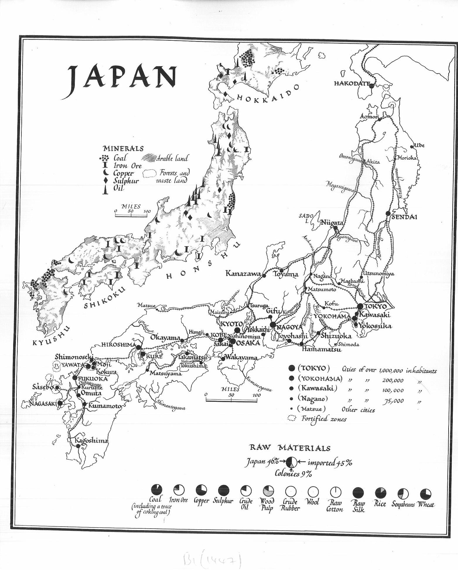 January Bodleian Map Room Blog - Japan map black and white
