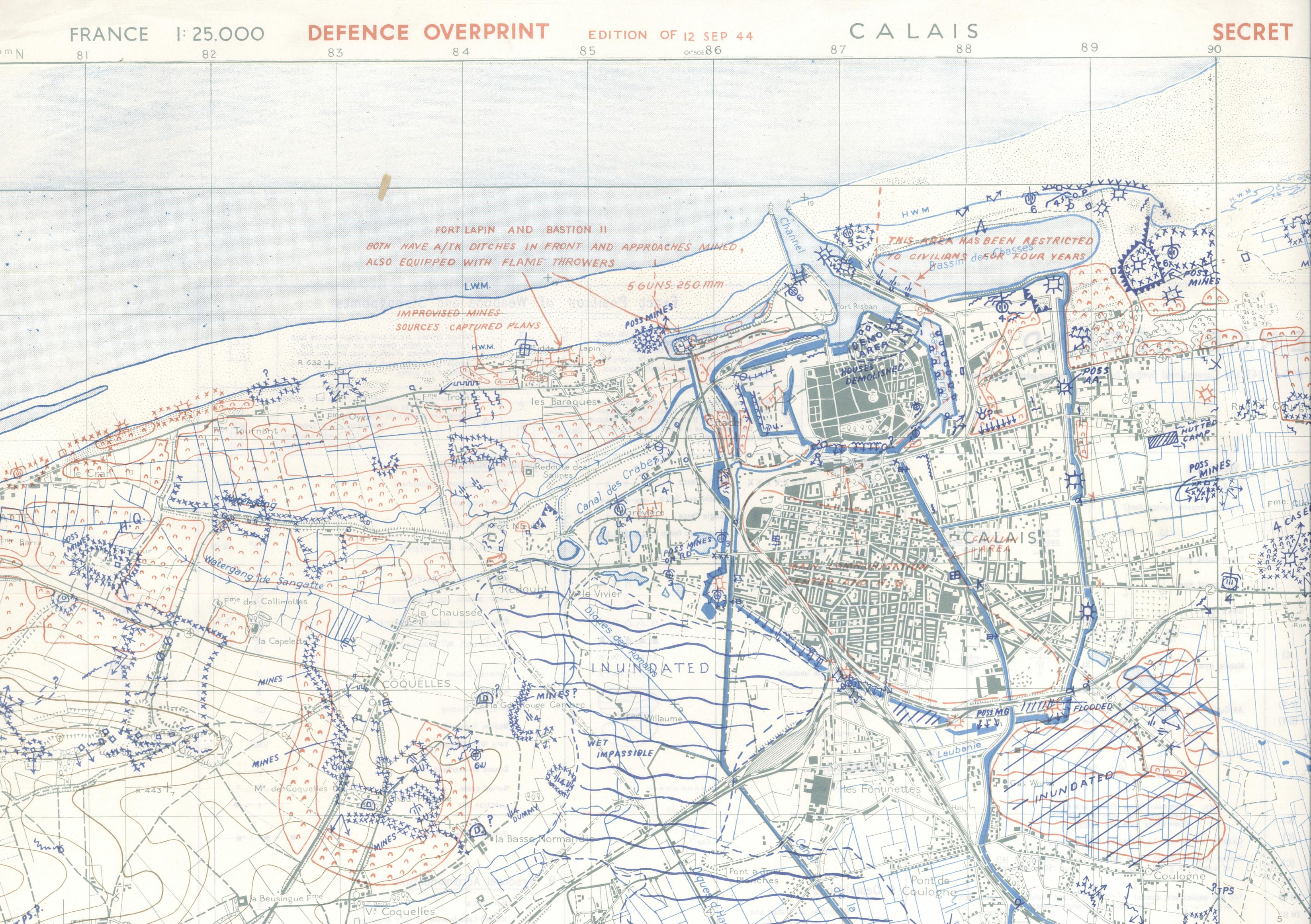 Map Of France North Coast.Planning The Allied Invasion Of France Bodleian Map Room Blog