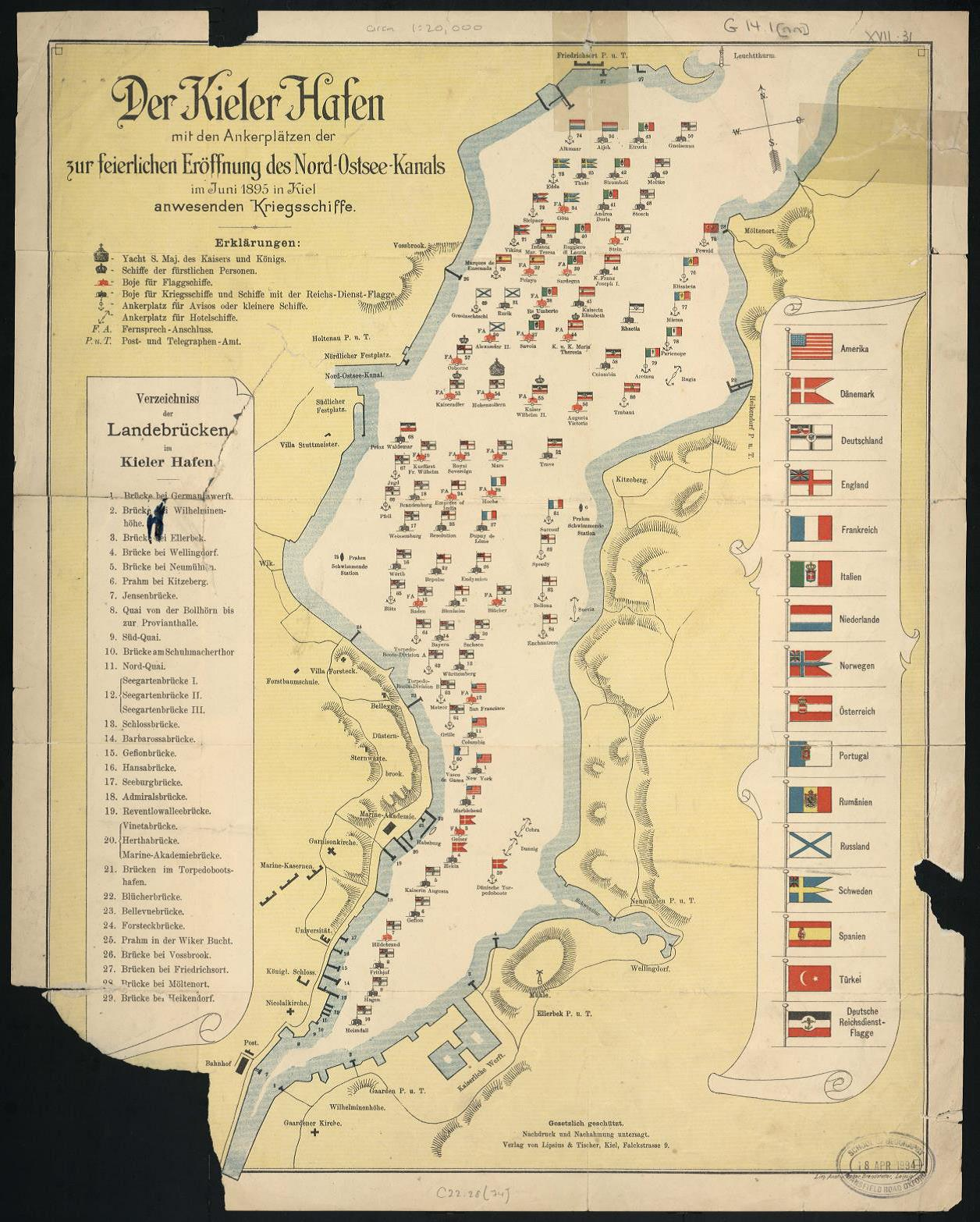 Kiel Canal flags and naval expansion Bodleian Map Room Blog