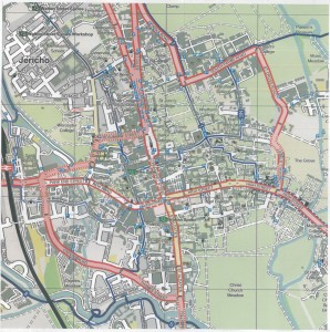cycle map city centre inset