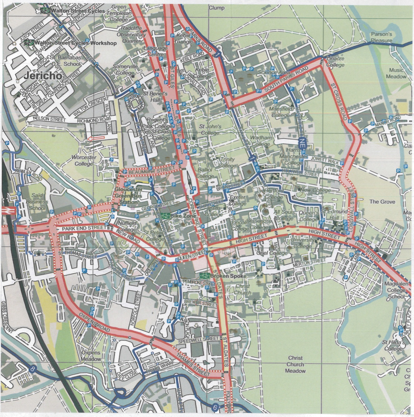 Car Parks In Oxford City Centre Map