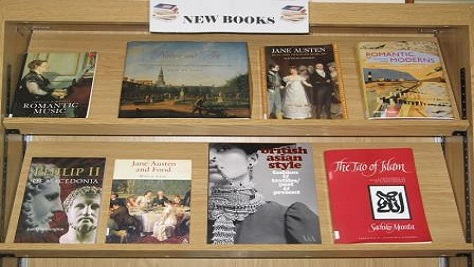 Image of new book display