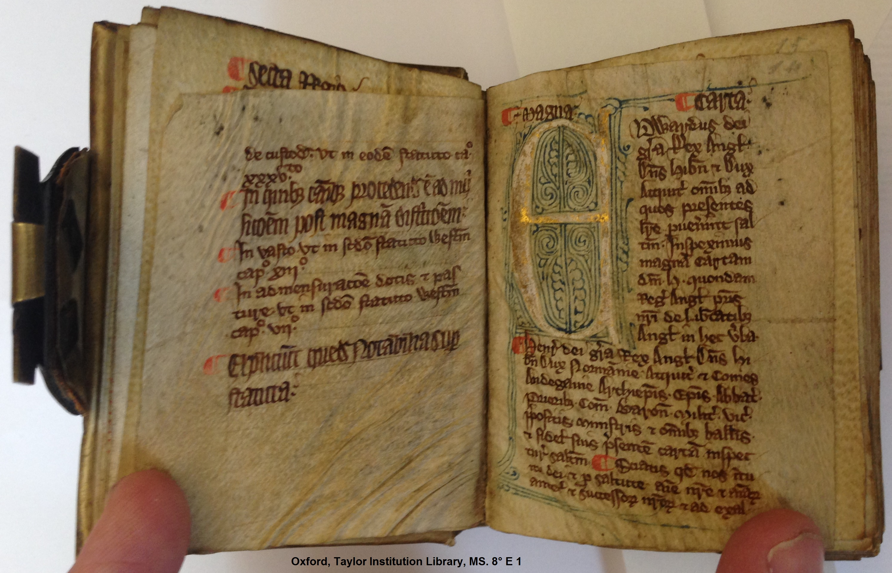 MS. 8° E 1 (Oxford, Taylor Institution Library), fol. 14r.