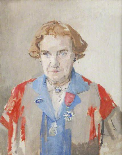 Enid Starkie, by Patrick George (Oil on canvas, 66 x 54 cm) Collection: Somerville College, Oxford (Image: Public Catalogue Foundation/BBC Your Paintings)