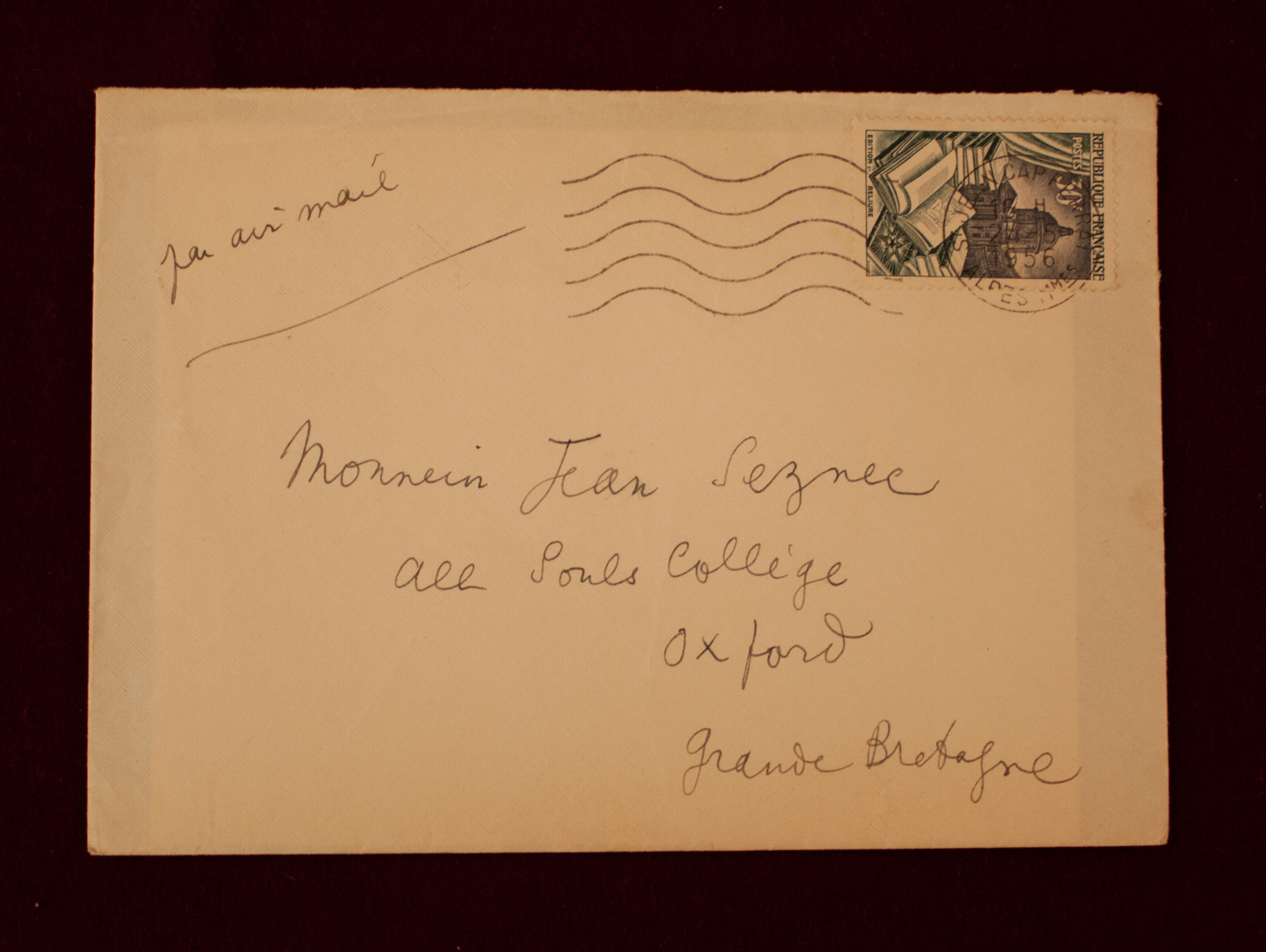 Envelope adddressed to Seznec in Cocteau's hand (Photo credit: James Legg)