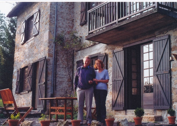 Giles and Lisa Barber at their home in Lescure (Ariège)