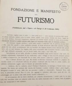 Fondazione e Manifesto del Futurismo (1909)
