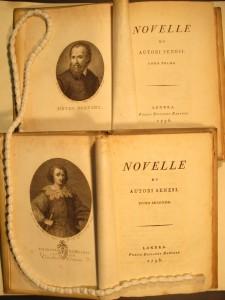 Novelle di autori senesi (2 vols.) (London: Riccardo Bancker, 1796-1798)