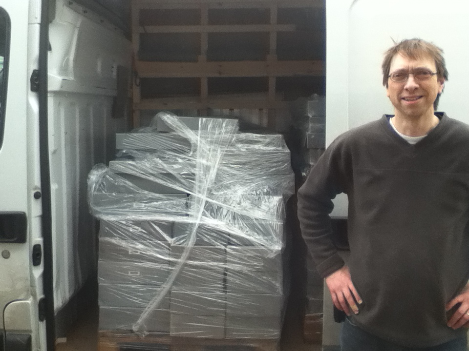 Dr. Tim Powell with the last van load of papers