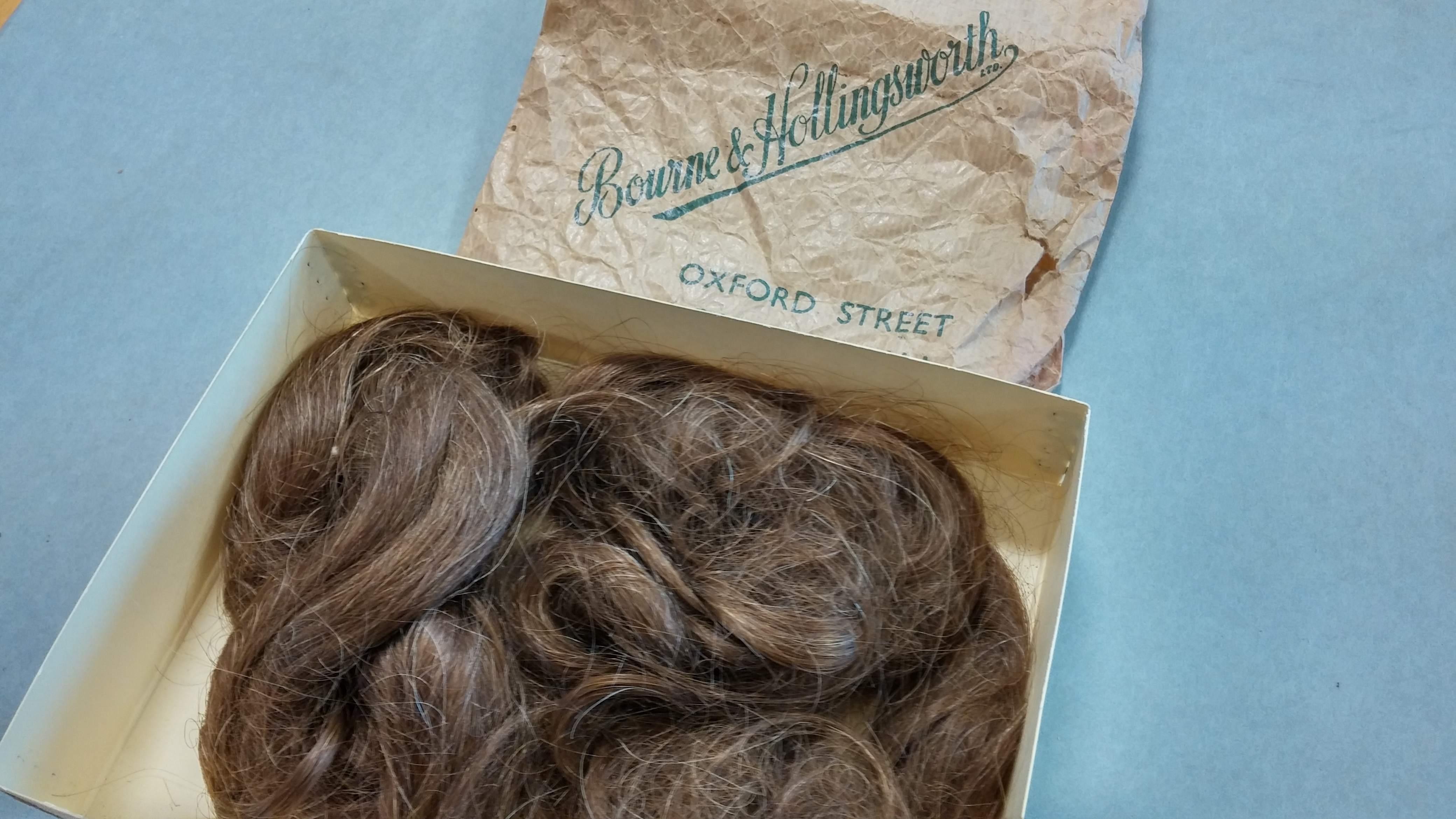 Unknown woman's hair in the Roy Jenkins archive, [c.1950s]