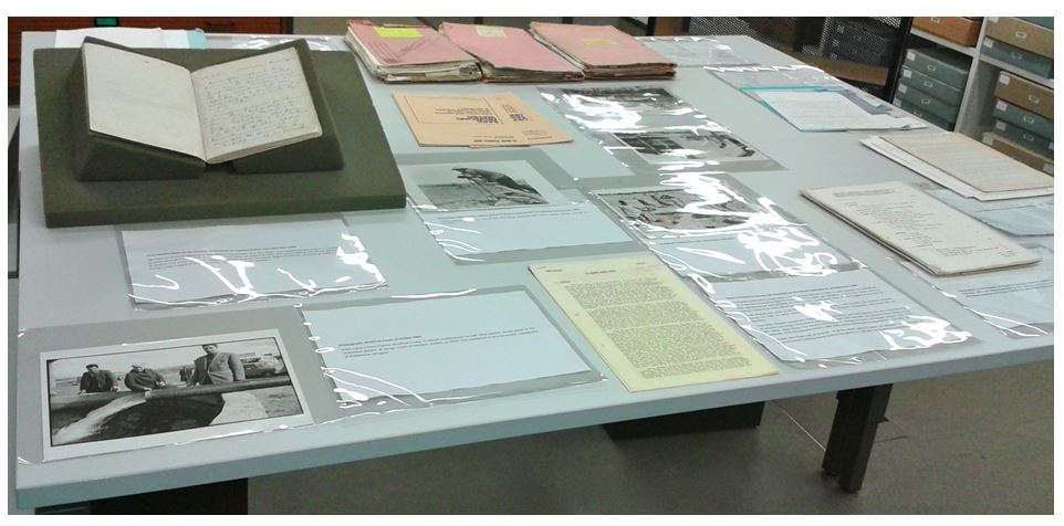 Display of documents from the Oxfam Archive relating to water and sanitation