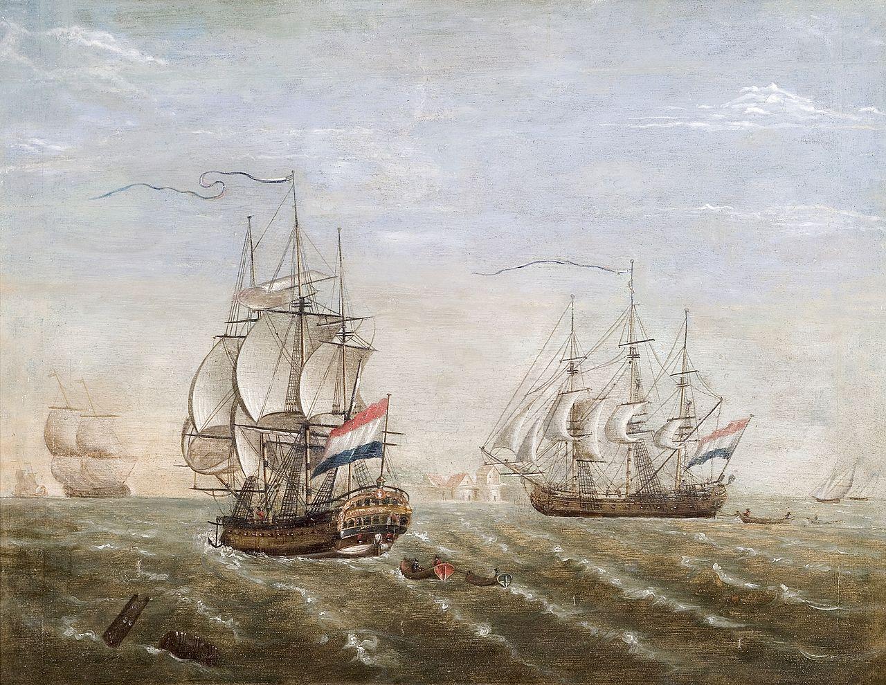 1280px-VOC-schip_'Slot_Ter_Hooge'_op_de_rede_van_Rammakens