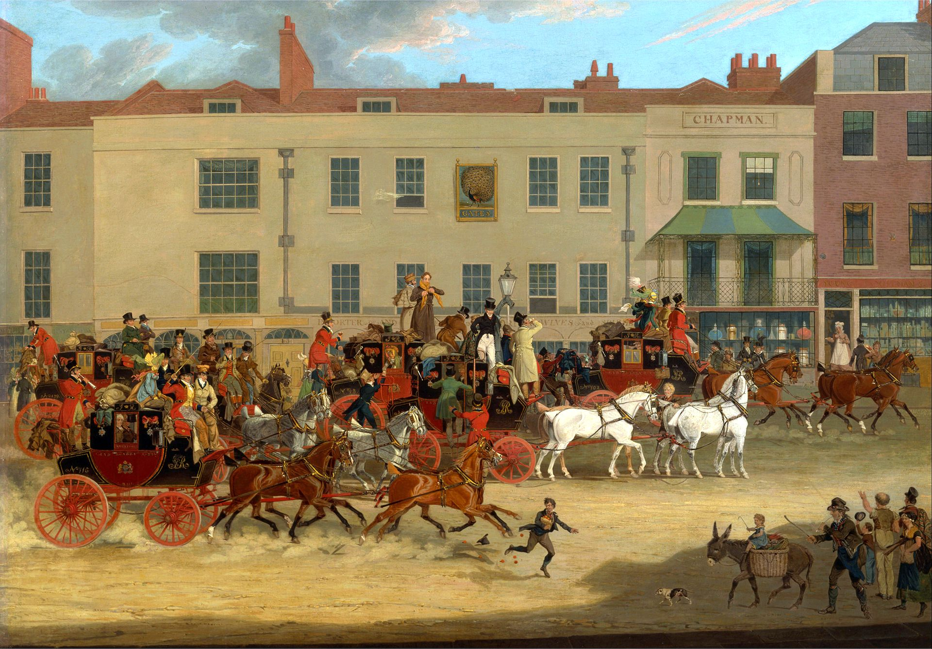 James_Pollard_-_North_Country_Mails_at_the_Peacock,_Islington_-_Google_Art_Project