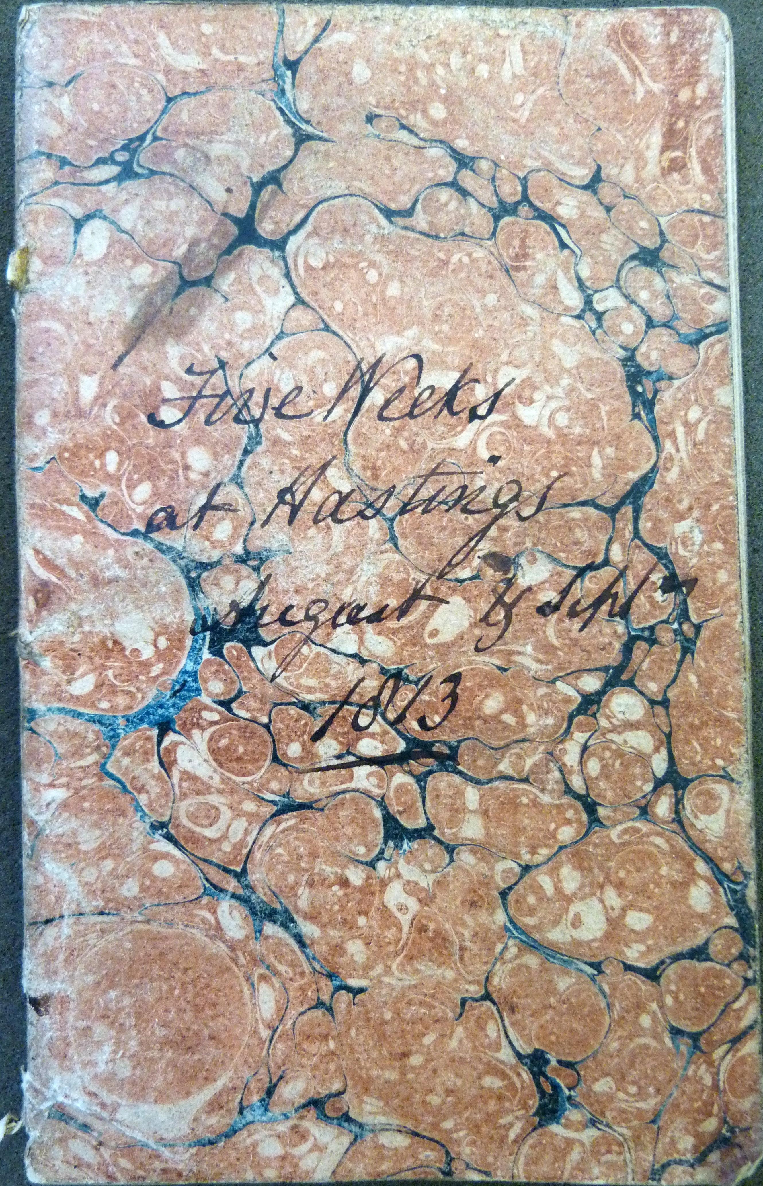 John Cox diary 1813-cover